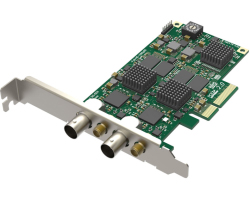 Magewell Pro capture dual SDI, LP PCIe x4, 2-channel SD/HD/3G/2K SDI, two channels bypass loop, Windows/Linux/Mac (11060)