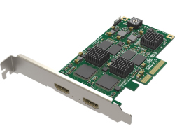 Magewell Pro capture dual HDMI, LP PCIe x4, 2-channel HDMI, plus standard 3D images, Window/Linux/Mac (11080)