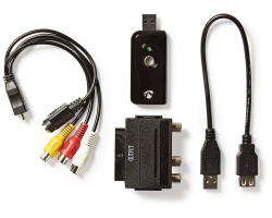 KONIG USB2.0 audio/video grabber, A/V kabel, scart