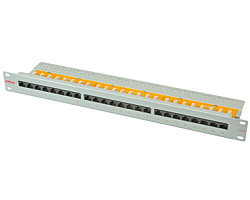 "Roline Cat.6/ClassE 19"" Patch Panel 24-porta UTP, sivi"